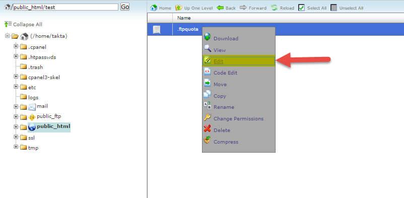 """که صفحه ای به شکل زیر باز می شود که مانند تصویر زیر روی فایل خود کلیک راست کنید و روی گزینه edit کلیک کنید و یا از منوی بالا بروی گزینه """"edit"""" کلیک کنید:"""