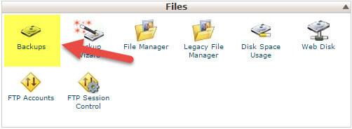 نحوه گرفتن بکاپ فایل ها در cPanel
